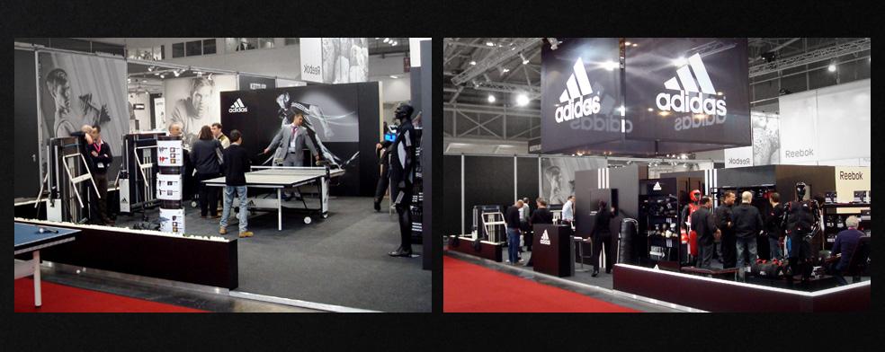 Adidas messestand tischtennis accessories formfueting for Berlin produktdesign