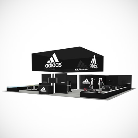 ADIDAS MESSESTAND TISCHTENNIS / ACCESSORIES